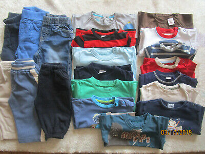 Baby Boy Bundle trousers, joggers, tops, t-shirts age 6-9 months