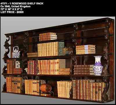 Rosewood Shelf Rack circa 1840 United Kingdom