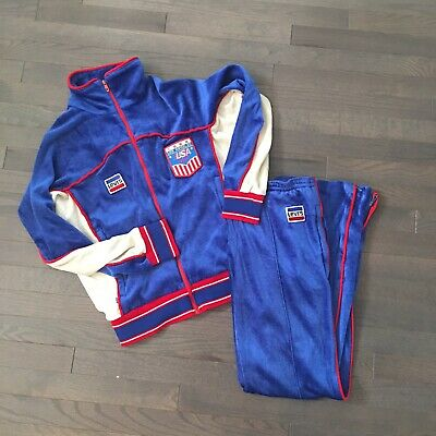 VTG 1984 LEVI'S OFFICIAL OLYMPICS TRACK SUIT WARM-UP SUIT SWEATS USA MADE sz S