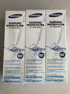 NEW SEALED Genuine Samsung Refrigerator Water Filter DA29-00020B- 3 Pack