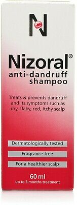 Nizoral Anti Dandruff Shampoo Ketoconazole Treatments Fragrance Free 60ml