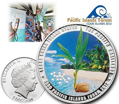 Münzen 2012 Cook Islands Nano Earth The World On Your Hand Only 1000 Pcs Goods Of Every Description Are Available