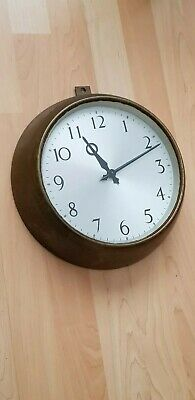 "Smiths Rare 11"" Military/Army Metal Wall Clock 1966 Perfect Working Condition."