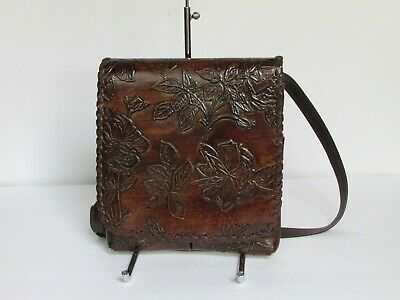 Patricia Nash Granada Leather Messenger Crossbody Bag