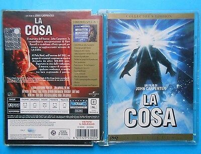 rare dvd jewel box la cosa the thing john carpenter kurt russell ennio morricone
