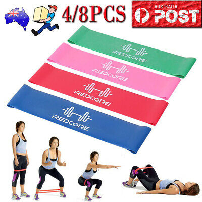 Resistance Bands Set of 4 for Exercise Men and Women Legs Arms Booty Yoga Physio