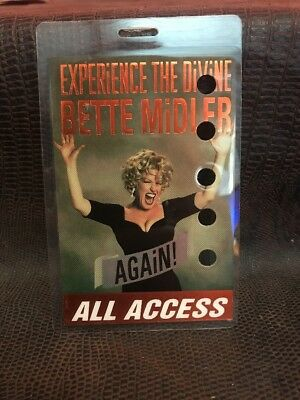 Experience Divine Bette  Midler Tour Stage Pass Concert VIP Stage JB3
