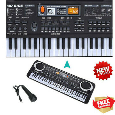 Portable 61Keys Digital Music Electronic Keyboard Piano Organ Instrument for kid