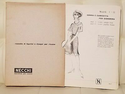 Vintage Necchi Sewing Machine Instruction Papers Patterns Guides book