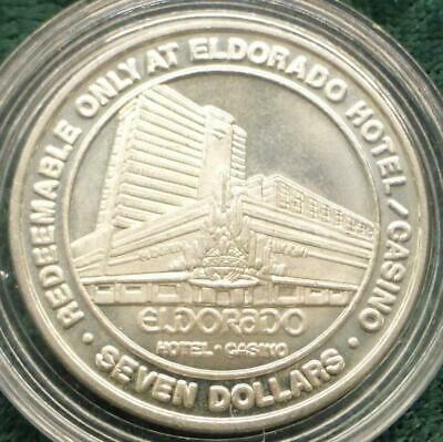 El Dorado Casino Reno Nevada Limited Edition $7 Gaming Token, 3/4 oz .999 Silver