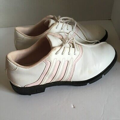 new style cc3c6 14d9e Adidas Z-TRAXION Golf Shoes Women s Leather White with Pink Leather Size 8