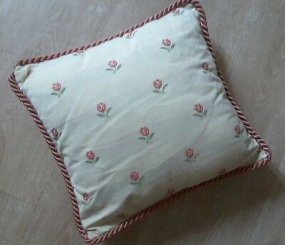 JOHN LEWIS PAIR OF VICTORIAN STYLE CUSHIONS size SMALL 35 x 35 cm
