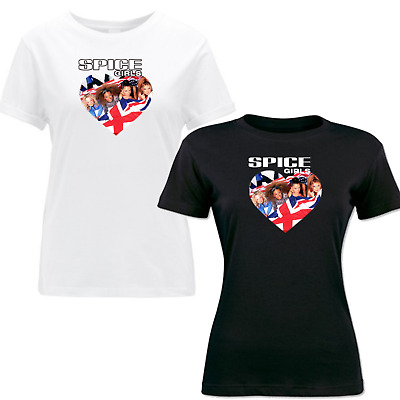 Vintage Spice Girls T-Shirt 2019 Tour Concert Ladies Women Girls Gift Tee Shirt