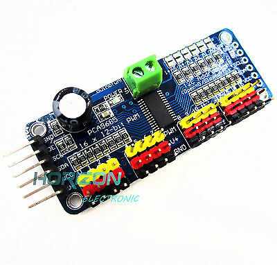 16-channel 12-bit i2c PMW Driver Servo Driver PCA9685 For Arduino