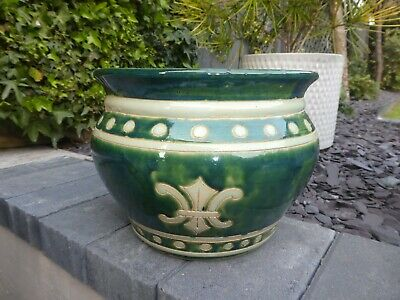 Arts & Crafts Movement Jardiniere. Signed. Initially Bought As Della Robbia
