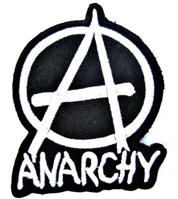 Anarchy A logo badge Iron on Sew on Embroidered Patch #1759