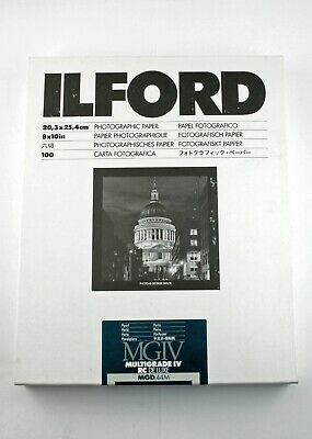 195061 Unopened 100-Sheet Box of Ilford Multigrade IV RC Pearl B&W Photo Paper