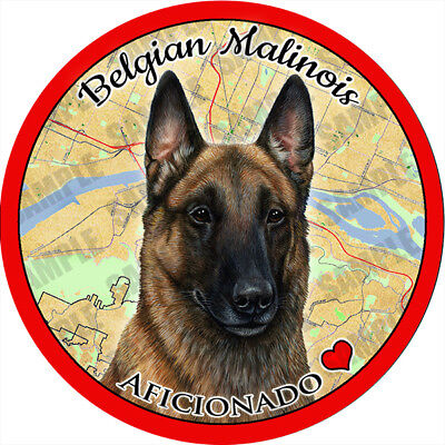 2 protected by Belgian Malinois dog bumper home window vinyl decals stickers
