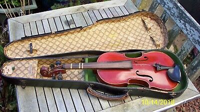 ANTIQUE VIOLIN - EX BBC - WITH CASE - GERMAN - D.R.G.M. No 728940 - 3/4 Size.