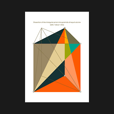 Colourful Abstract Geometric Prism Art Print Poster - Wall Decor - A5 A4 A3