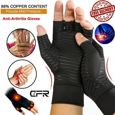 CFR Copper Compression Arthritis Gloves Hand Wrist Support Carpal Tunnel Pain GW