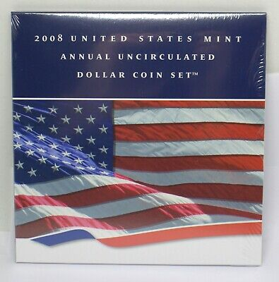 2008 Us Mint Annual Uncirculated Dollar Coin Set  #101272-11D
