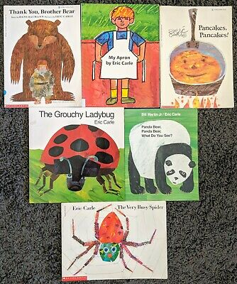 Eric Carle Paperback 6 Picture Book Lot Childrens