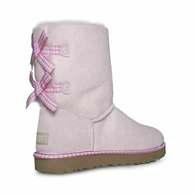 a04cfb62012 UGG BAILEY BUTTON Poppy Seashell Pink Suede Sheepskin Boots Size 8 ...