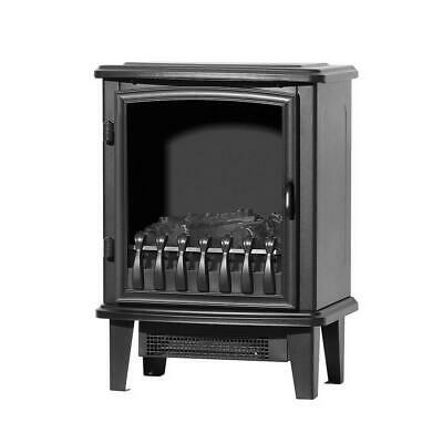 Single Door LED Electric Fireplace Heater Portable Wood Fire Log Flame Effect