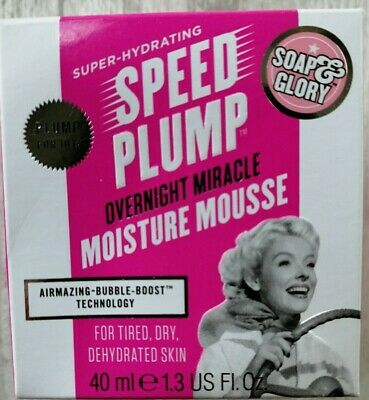 Soap & Glory Speed Plump Overnight Miracle Moisture Mousse 40ml 1.3 fl oz NEW