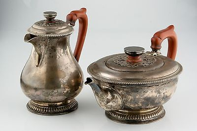 Harrods of London Silver Set Teapot & Pitcher (1916-1917) Red Handled RWB 1476gr