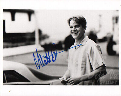 Matt Damon Signed 11x14 Photo Good Will Hunting Beckett Bas Autograph Auto E With Traditional Methods Movies Entertainment Memorabilia