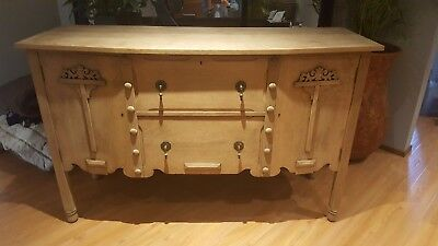Antique 'Beard Watson' Oak Sideboard