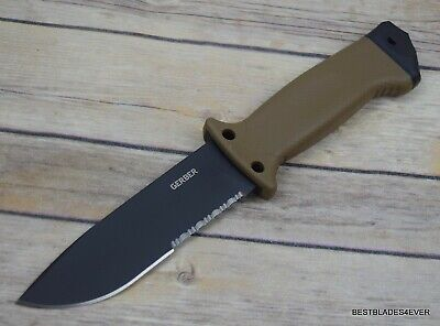Gerber Lmf Ii Survival Coyote Brown Fixed Blade Hunting Knife Made In Usa