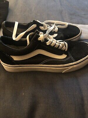 84f613acc1c02 New Men and Women Vans Old Skool Black Skateboarding Shoes Classic Canvas  Suede