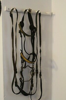 Cavalry OFFICERs BRIDLE: RARE Military ANTIQUE; Bit, Reins, Used; Dragoon
