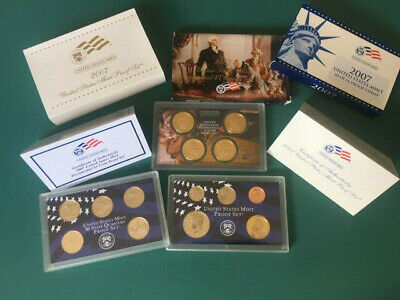2007-S United States Mint Proof Set, 14 Coins, with Box and COA