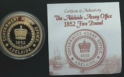 2005 Cook Islands 1852 Adelaide Assay Office Pound 1oz Silver (.999)  $1 coin