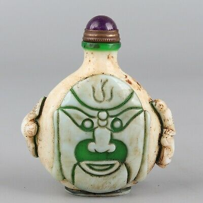 Chinese Exquisite Handmade Luohan Glass snuff bottle