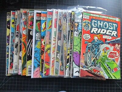 Mixed Lot Of 25 Marvel Bronze Age Ghost Rider Hulk Avengers