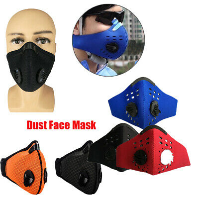 Sports Cycling Unisex Anti Smoke Dust Air Purifying Face Mask Filter multi layer