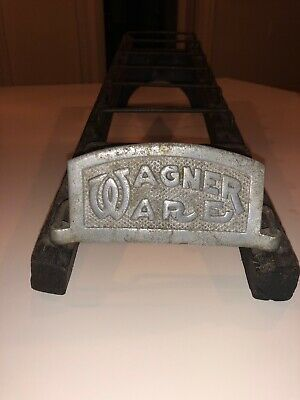 Rare 1920's Antique Wagner Ware Store Display Rack For Cast Iron Skillets