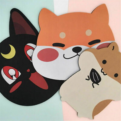 1X Lovely Animal Corgi Dog Head Non-Slip Gaming Laptop Mice Mouse Pad Mouse Mat