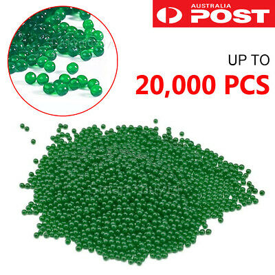 7-8mm 10,000x HARDENED Milky White Gel Balls Green Ammo Toy Gel Ball Blaster OZ
