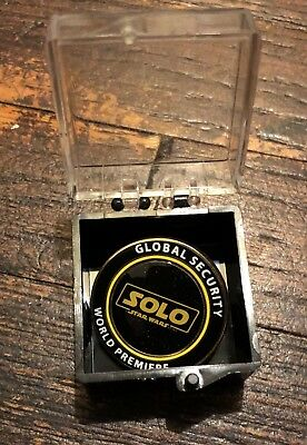 SOLO A Star Wars Story Global Security World Premiere Pin (Super Rare!)