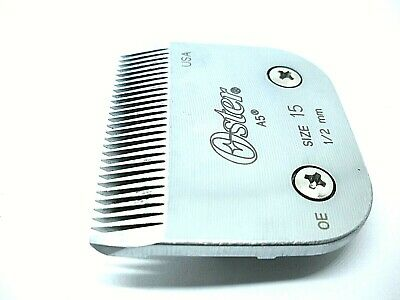 Size 15 1/2mm Clipper Blade for Oster A5 Clippers Unitary Cutting Assembly