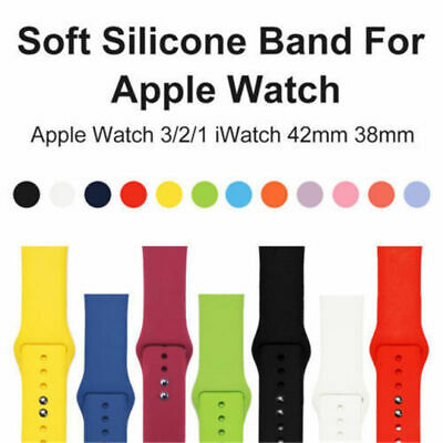 Silicone Bracelet Band Strap For Apple Watch iWatch Sports Series 4/3/21 40/44mm