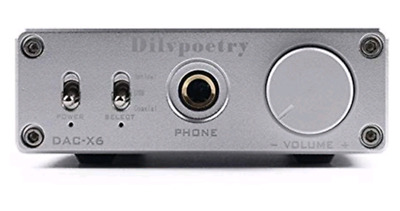 Dilvpoetry DAC-X6 Amp 24BIT/192 (SILVER) (Brand new - unused - boxed)