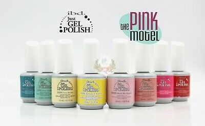IBD Just Gel Polish - THE PINK MOTEL Summer 2019 Full Collection 8pcs