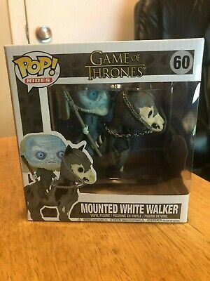 Funko Pop Mounted White Walker on Horse #60 Game of Thrones Brand New Free Ship!